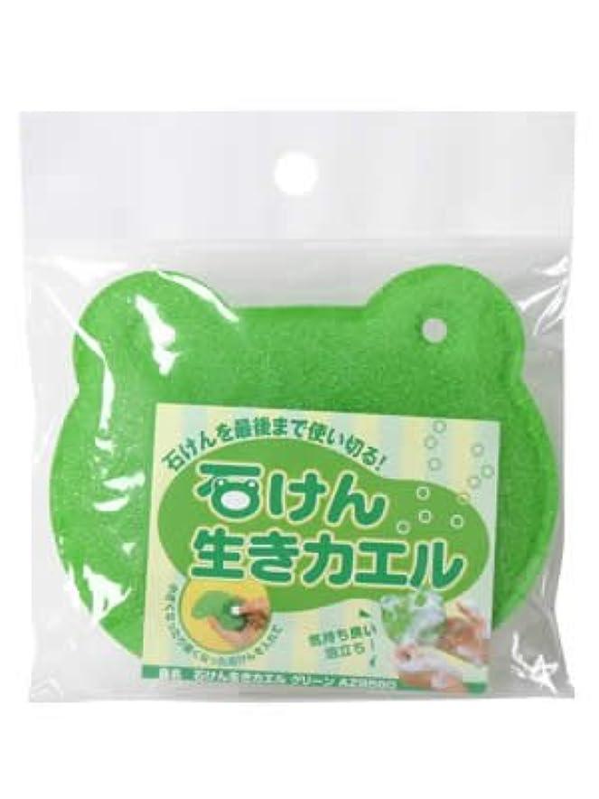 メロディアス導入する提唱するアズマ 石鹸ネット 石けん生きカエル グリーン AZ958G