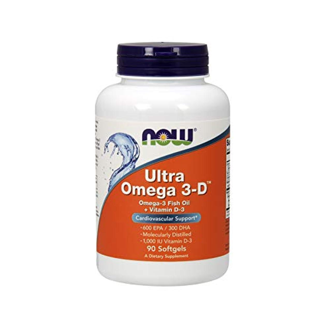 貴重な見捨てられた内訳Now Foods Ultra Omega 3-D Softgels, 0.48 Pound
