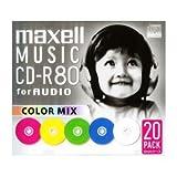maxell 音楽用 CD-R 80分 カラーミックス 20枚 5mmケース入 CDRA80MIX.S1P20S
