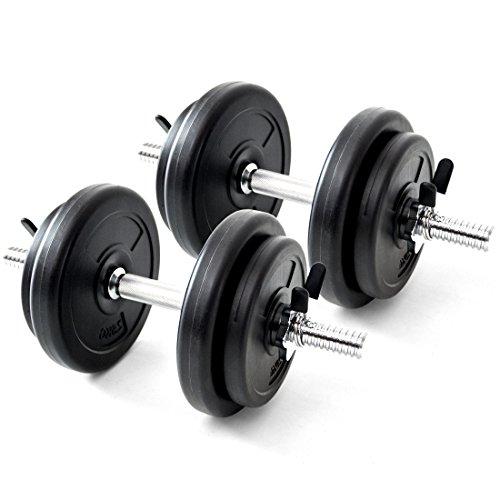 タンスのゲン G-Body ダンベル 10kg 2個セット 20kg スプリングクリップ付き 2461000100 SA