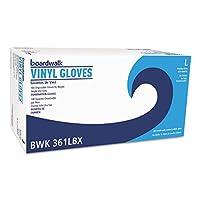 ボードウォーク試験ビニール手袋、クリア、Large、33/ 5mil、1000/カートン