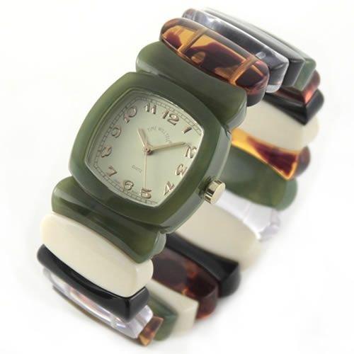 [タイムウィルテル]Time Will Tell 腕時計 モスグリーン&レインボーカラー バングル・ブレス・ウオッチ(ミディアム・サイズ) Multi-MSRA-M [ベルト切れ1年保証付き] [並行輸入品]