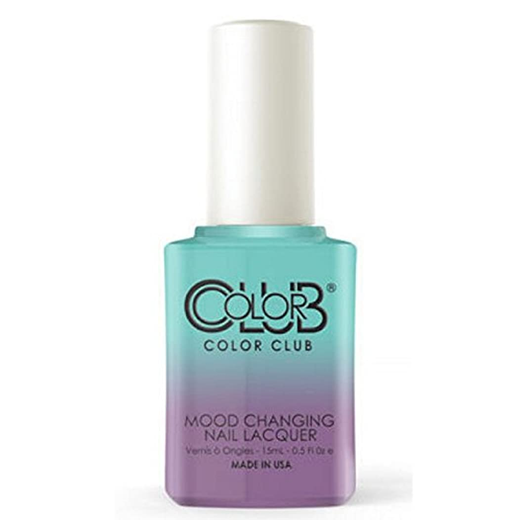 落花生法律により終点Color Club Mood Changing Nail Lacquer - Serene Green - 15 mL / 0.5 fl oz