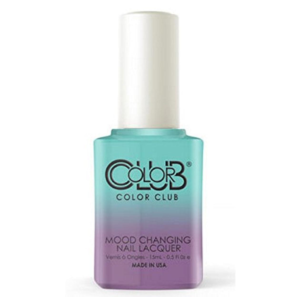 欠席端末手入れColor Club Mood Changing Nail Lacquer - Serene Green - 15 mL / 0.5 fl oz
