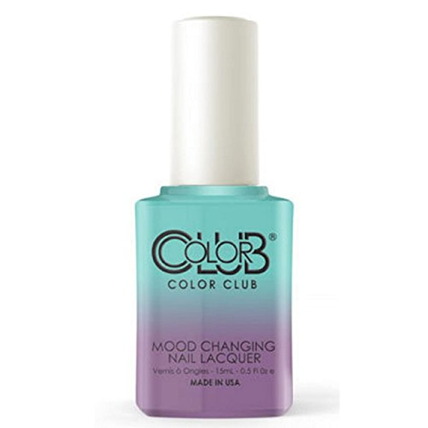 復活させる宇宙のクリアColor Club Mood Changing Nail Lacquer - Serene Green - 15 mL / 0.5 fl oz