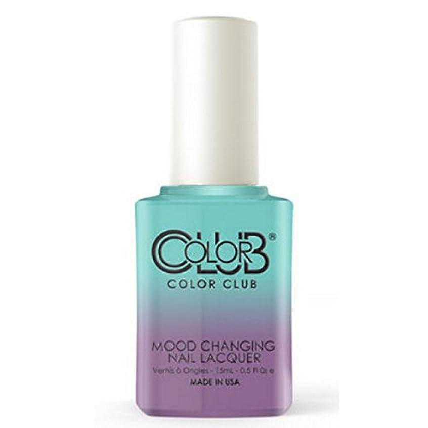 のぞき見健康的衣装Color Club Mood Changing Nail Lacquer - Serene Green - 15 mL / 0.5 fl oz