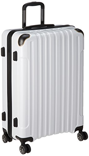 [ワイズリー] スーツケース 超軽量双輪スーツケース 26インチ コーナーパッド付き TSAロック 73L 73cm 4.6kg 338-2203 10 カーボンホワイト