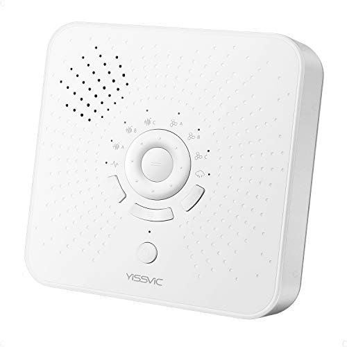 YISSVIC 快眠グッズ ホワイトノイズマシン 新しいモデル サウンド16種 自動オフタイマー付き 睡眠誘導マシン メモリー機能付き 騒音・雑音を音で遮断 2種類給電 不眠対策 騒音カットマン