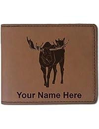 フェイクレザー財布 – ムース – カスタマイズ彫刻Included (ダークブラウン)