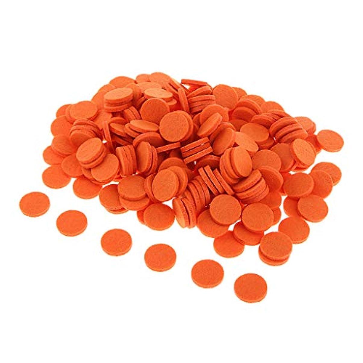 昆虫を見る帆義務づけるディフューザー パッド アロマパッド エッセンシャルオイル 洗える 約200個入り 全11色 - オレンジ
