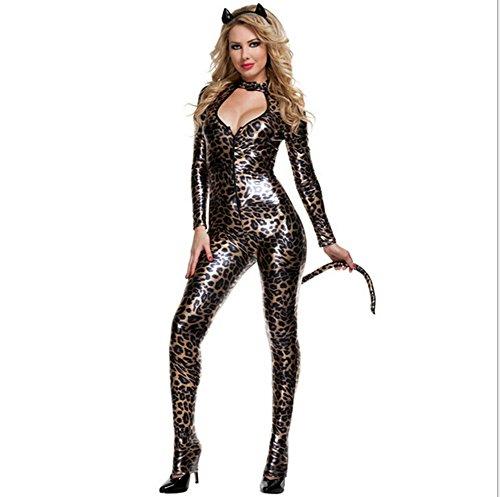 ONG コスプレ セクシー ハロウィン パーティー 仮装 ボディースーツ 豹柄 女豹 コスチューム 衣装