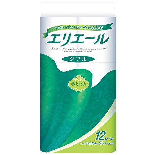 エリエール トイレットペーパー 30m×12ロール ダブル パルプ100% リラックス感のある香り