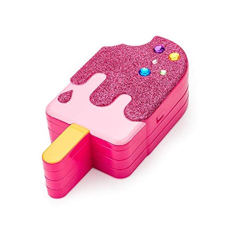 平方なんとなくかまどMeterMall 子供女の子アイスキャンデーの形は化粧玩具セットリップグロスフラッシュパウダー化粧ブラシをシミュレート