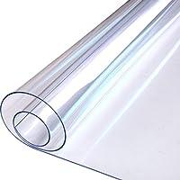 テーブルクロス 防水 アンチホット アンチオイル 使い捨て 透明なパッド プラスチックテーブルマット コーヒーテーブルマット (90 * 180 * 0.1cm)