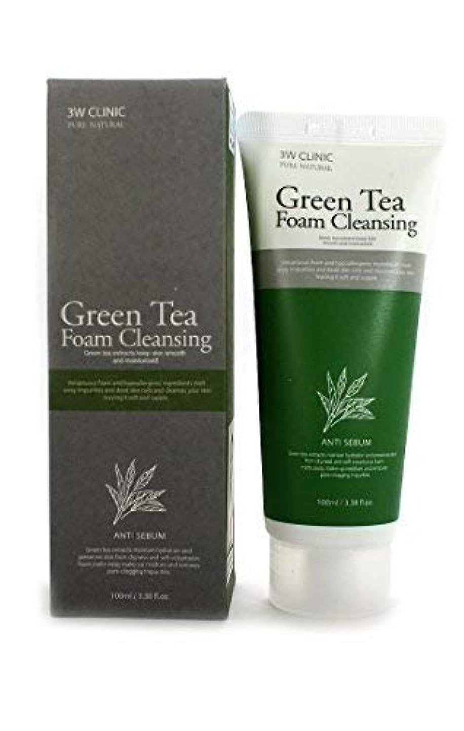禁止する知覚する潤滑するGreen Tea Foam Cleansing クリニック純粋な天然100Ml(3.38Fl。オズ) [並行輸入品]