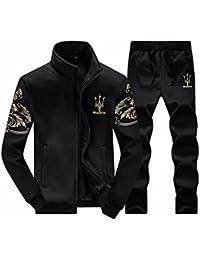 JapHot メンズ ジャケット セット ジャージ メンズスウェット 長ズボン ジャケット+パンツ セットアップ アクテイブウエアー パーカー 運動着 トレーニングウェア フード付き 長袖 防寒 防風 上下セット