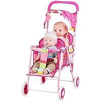 人形用 ベビーカー バギー お世話パーツ かわいい 乳母車 おもちゃ 鉄の枠 折り畳み式 楽しく二人乗せ