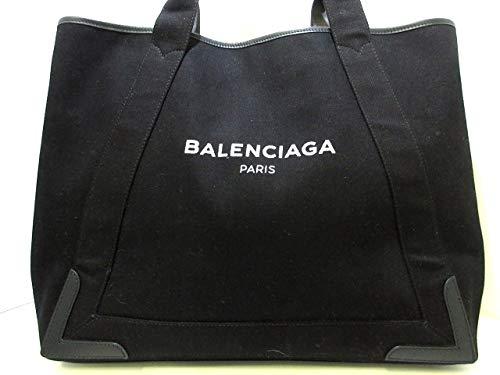 (バレンシアガ) BALENCIAGA トートバッグ ネイビーカバM 黒×白 339936 【中古】
