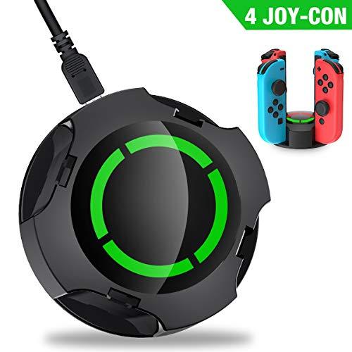Joy-Con用 充電 スタンド 4台同時充電可能 過熱保護BEBONCOOL ジョイコン充電器 指示LED付き