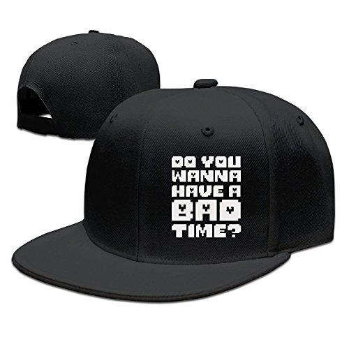 ティナ アンダーテール あなたが悪い時間 平らつば 野球帽 帽子 面白い スポーツ 男女兼用 調節可能 Black