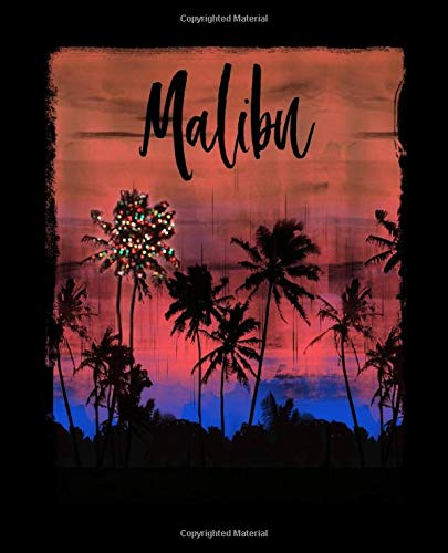 Malibu: California Christmas Journal Notebook Shopping Organizer Holiday Food Meal Party Planner Budget Expense Tracker. Tropica