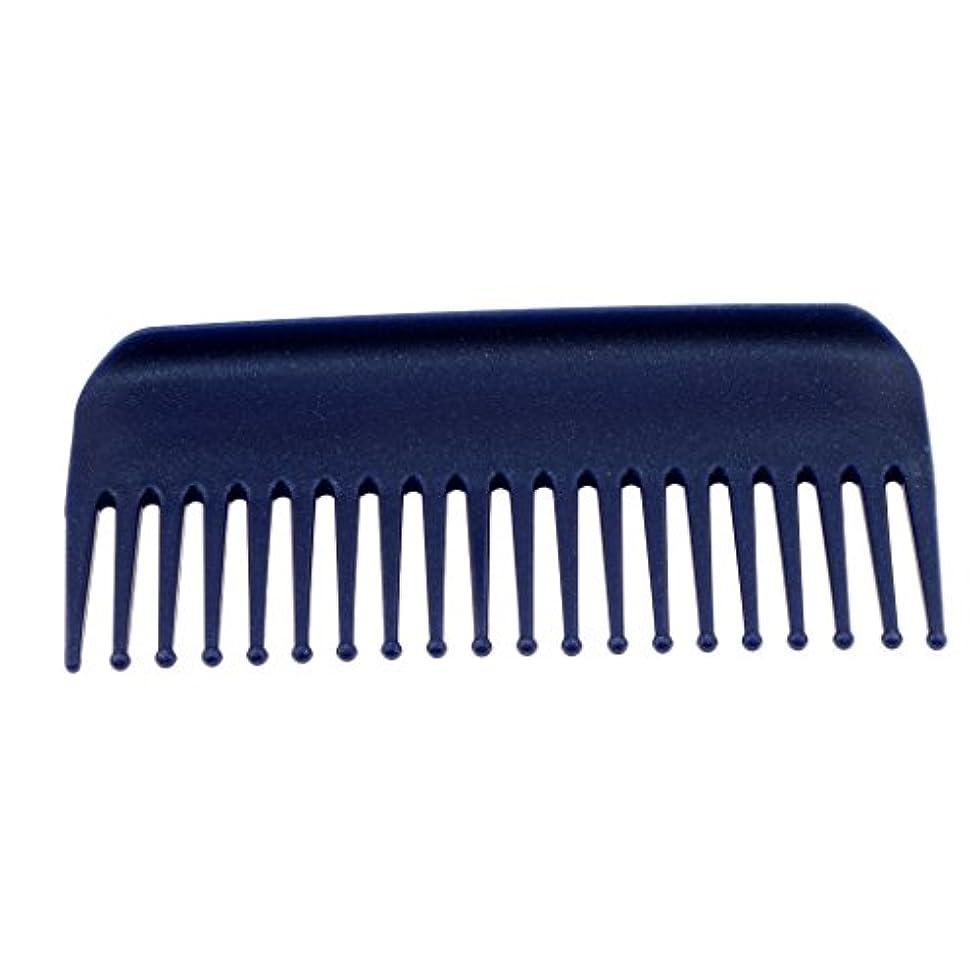 居住者注釈バウンスヘアブラシ ヘアコーム コーム 櫛 くし サロン ヘアケア 耐熱性 帯電防止 頭皮 マッサージ 丸いヘッド 4色選べる - 青