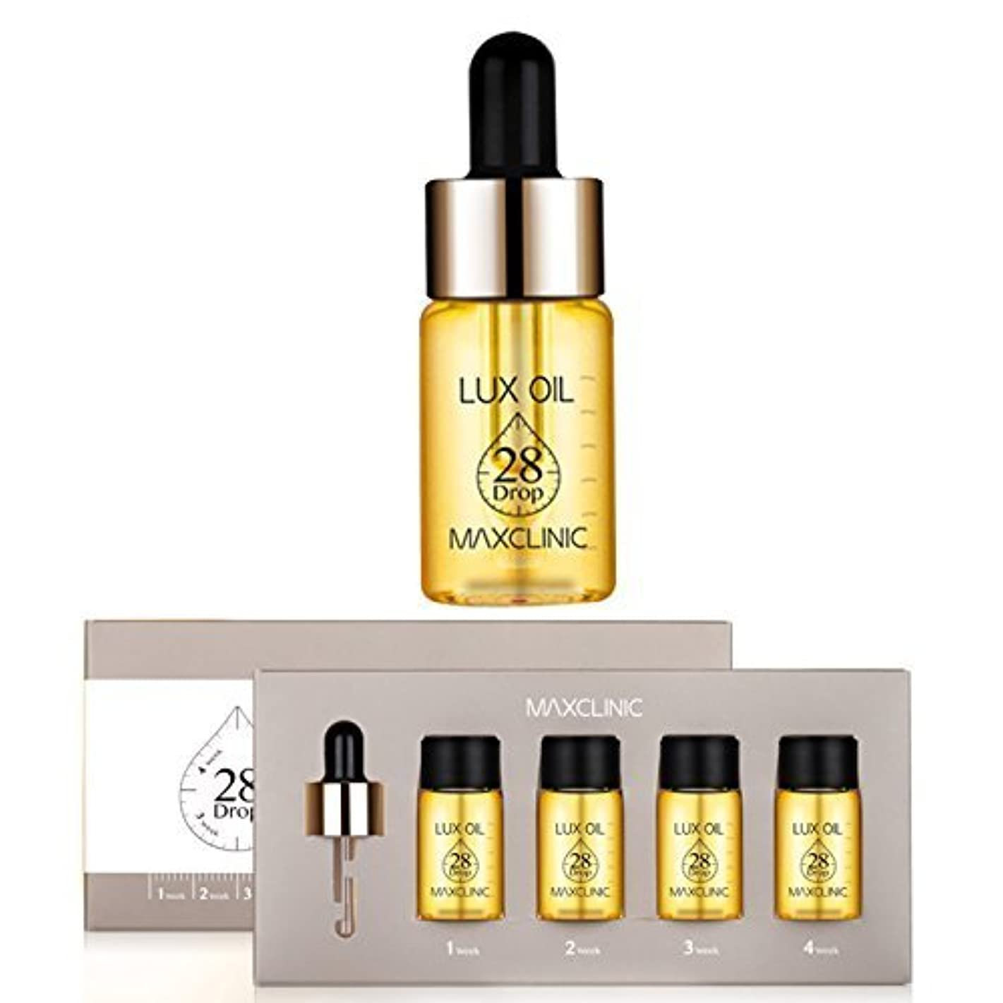 バス入札ロータリーマックスクリニック[韓国コスメMaxclinic]Lux Oil 28 Drop,Luxury spa oil ampoules ラックスオイル28ドロップ、ラグジュアリースパオイルアンプル10mlX4個 [並行輸入品]