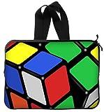 美しいデザインマジックキューブ、ルービックキューブ、キューブパズルハンドルMacbook、Macbook Air 15インチノートパソコンスリーブ/ラップトップバッグ/ノートPCカバー/ノートPCスリーブMacbook Airケースバッグ(両面)