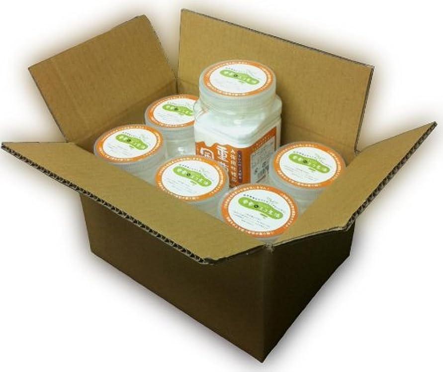 風邪をひく収入キャリッジ入浴用化粧品 「重曹風呂」 700g スプーン付 6個セット トレハロース(保湿)配合