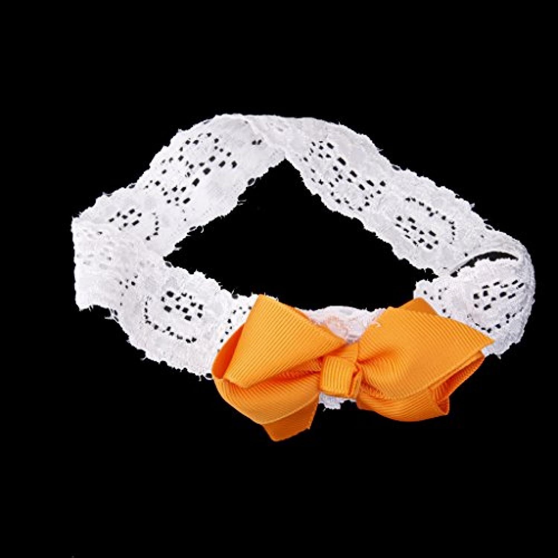 【ノーブランド 品】ちょう結び 赤ちゃん 可愛い ヘアバンド ヘッドバンド ヘアアクセサリー 髪飾り 出産祝い 写真撮影 小道具 オレンジ