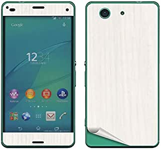 decopro SO-02G Xperia Z3 Compact スキンシール 両面のみ デコシート 携帯保護シート 気泡レス 木目オフホワイト