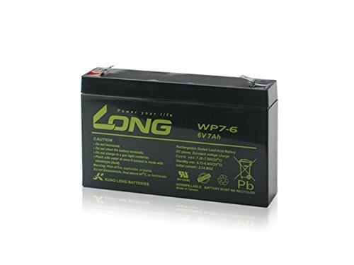 LONG サイクルバッテリー WP7-6(産業用鉛蓄電池)■...
