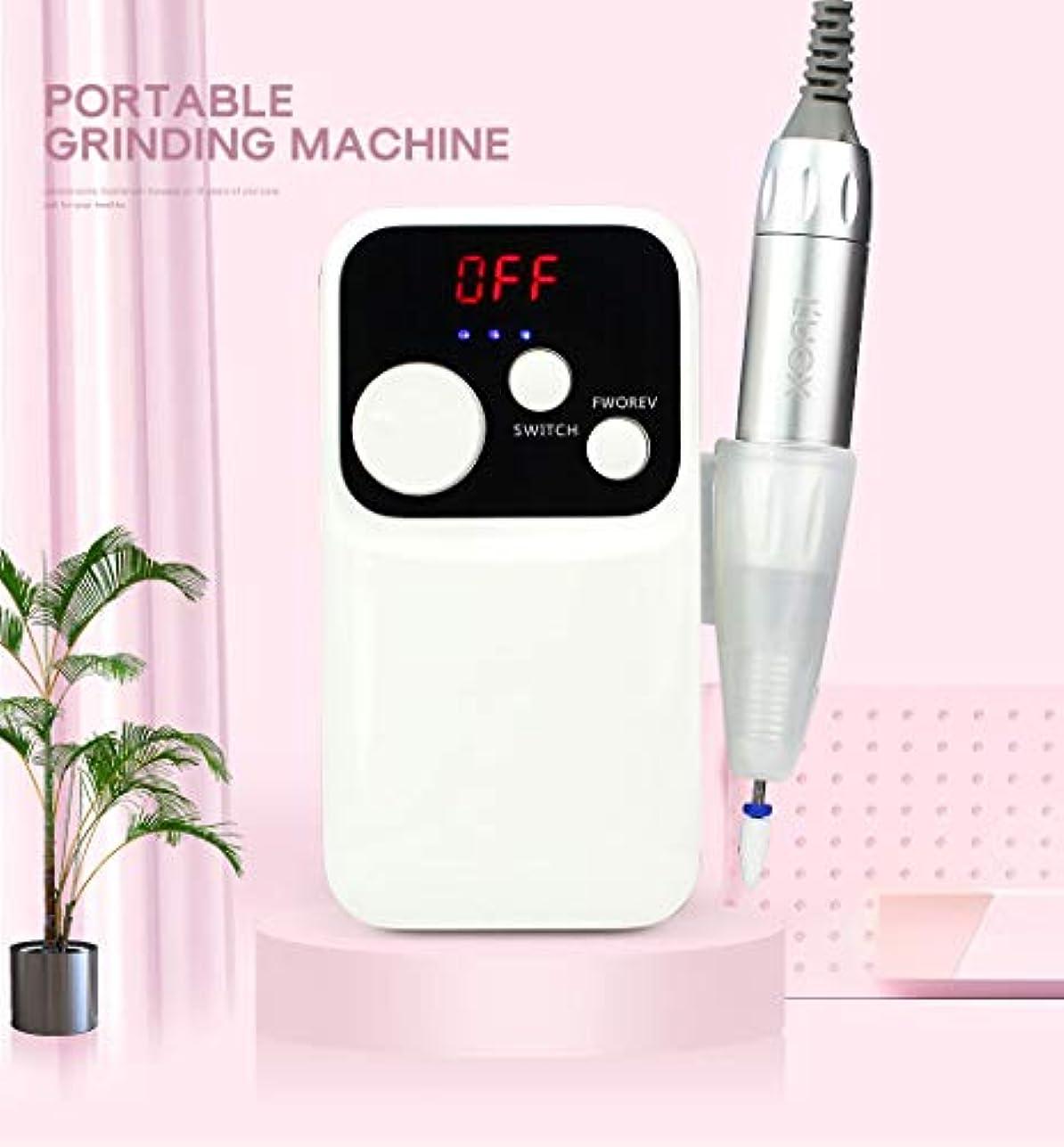 電気マニキュアドリル研磨ツールセット18 w 35000RPM充電爪用ポータブルネイルアート機器装飾