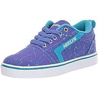 Heelys Girls' GR8 Pro Prints Tennis Shoe, Blue IRIS/Cyan/Constellations, 4 M US Big Kid