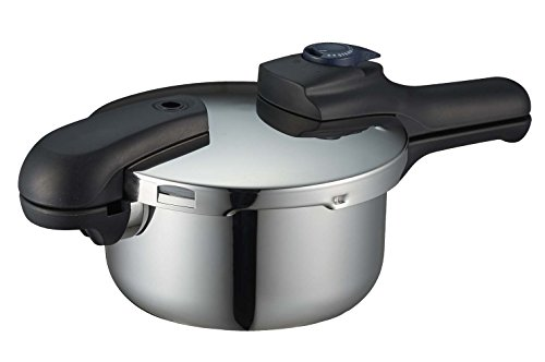 パール金属 圧力鍋 2.5L IH対応 3層底 切り替え式 レシピ付 クイックエコ H-5039