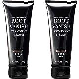 綺和美 (KIWABI) Root Vanish 白髪染め ダークブラウン 2本セット ヘアカラートリートメント 女性用 男性用 100%天然成分 無添加22種類の植物エキス配合