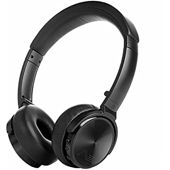 LASMEX Bluetooth ヘッドホン ワイヤレス 折りたたみ式 高音質 低音重視 密閉型 リモコン マイク付き ブラック HB-65