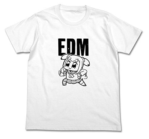 (シンマンエン)Qin Man Yuan ポプテピピック EDM Tシャツ ホワイト 男女通用 (3XL)
