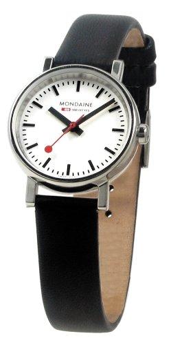 [モンディーン]MONDAINE 腕時計 エヴォ レディース ホワイト文字盤 ブラックレザーストラップ A658.30301.11SBB レディース [正規輸入品]