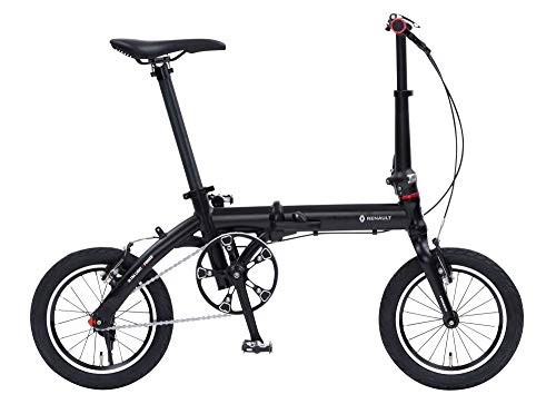 ルノー(RENAULT) 軽量・コンパクト 7.4kg 14インチ 折りたたみ自転車 ULTRA LIGHT 7F ブラック アルミフレ...