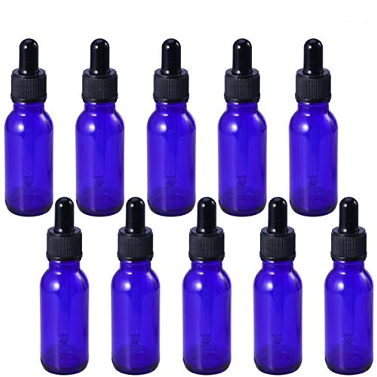悪用大きさ模索Frcolor 遮光瓶 スポイト遮光瓶 青色瓶 スポイト付き アロマボトル 保存容器 エッセンシャルオイル 香水 保存用 詰替え ガラス(10個入り 20ml)