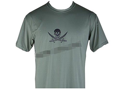 EMERSON製 NAVY SEALs クロスソードスカル 速乾 Tシャツ フォリッジグリーン FG (XL)