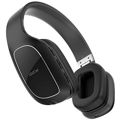 QCY QCY30 Bluetooth ヘッドホン 密閉型 折りたたみ式 顔認証センサー付き 15時間連続再生 AUX 有線/無線 両用 ブルートゥース ヘッドホン CVC6.0 ノイズキャンセリング ハイレゾ 相当 高音質 オーバーイヤー マイク付き ハンズフリー 通話 ワイヤレス ヘッドホン bluetooth ヘッドセット ブラック QCY-QCY30BK