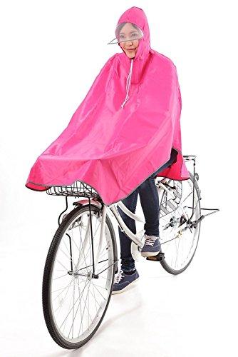 krosta(クロスタ) 自転車用 レインコート ポンチョタイプ 男女兼用 フリーサイズ (ワインレッド/日本語パッケージ)