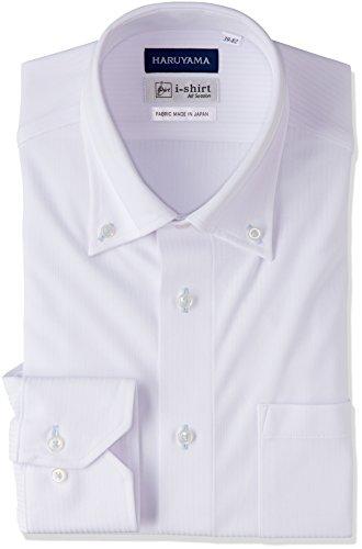 (はるやま) HARUYAMA(ハルヤマ) i-shirt 完全ノーアイロン 長袖 ボタンダウンアイシャツ M151180043 01 ホワイト L84(首回り41cm×裄丈84cm)