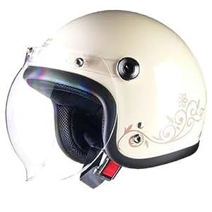 リード工業 バイクヘルメット ジェット Street Alice QP-2 スモールローアイボリー レディースフリー 55~57cm未満