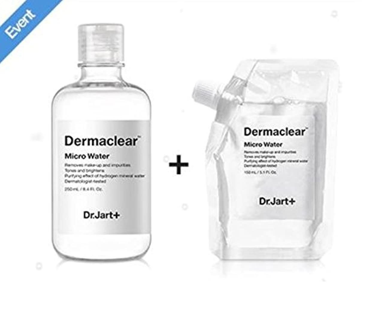 ドクタージャルト[韓国コスメ Dr.Jart+]ダーマクリア マイクロ ウォーター250ml+150ml(リフィル) [korean cosmetic Dr.Jart+]Dermaclear Micro Water (250ml...