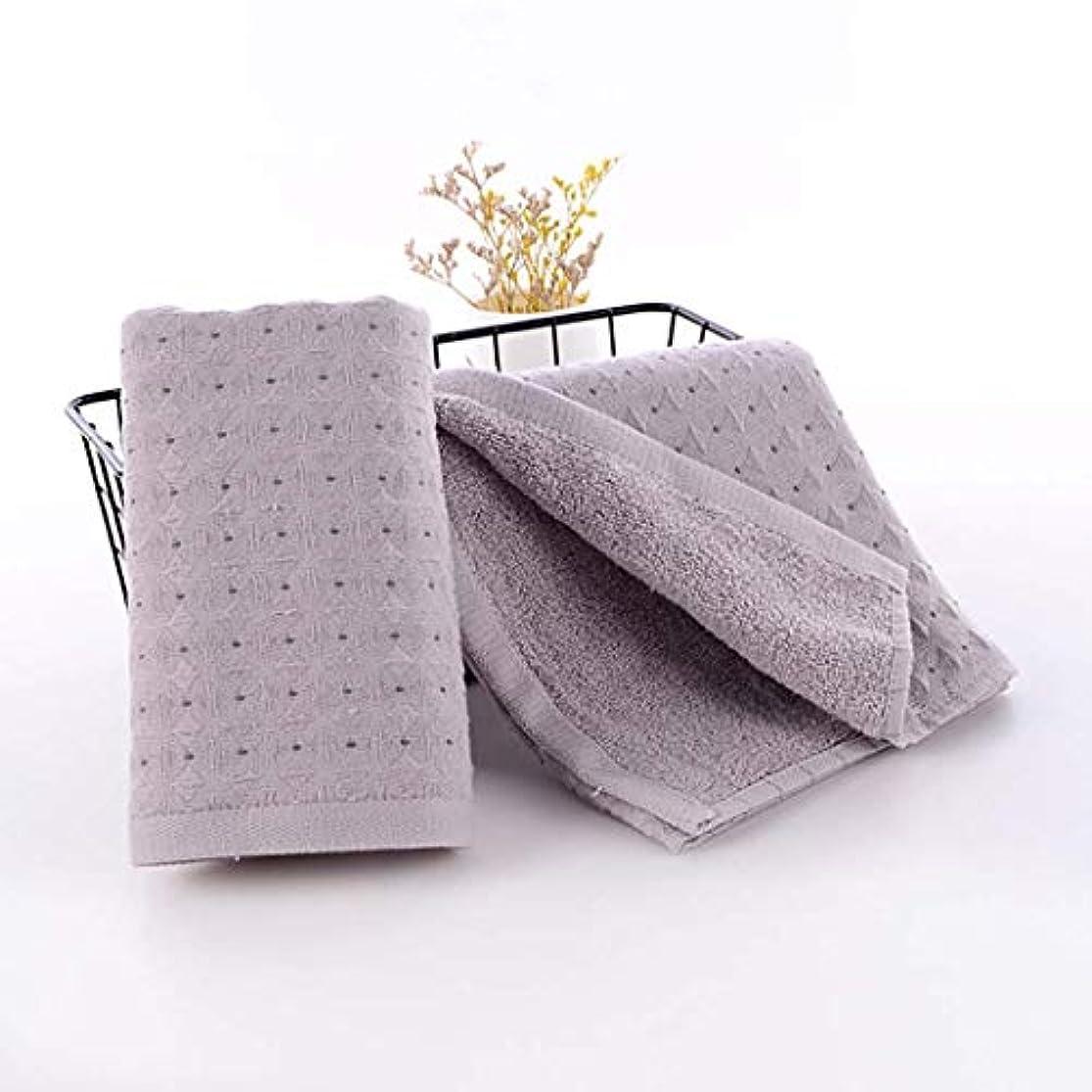 教養があるインシュレータ谷綿のハンドタオルの速い乾燥したタオルの速い乾燥したタオル,Gray,34*75cm