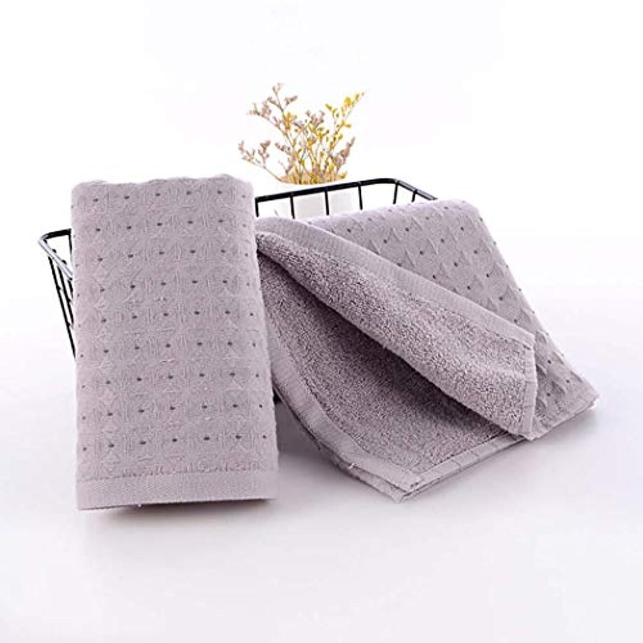 温かい差別黄ばむ綿のハンドタオルの速い乾燥したタオルの速い乾燥したタオル,Gray,34*75cm