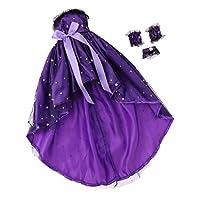 B Baosity 紫 1/3ナイトロリータガールドール 60cm人形のため プリンセスドレス ワンピース